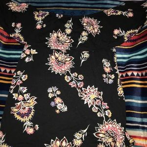 Black floral off the shoulder size small